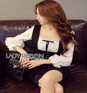 lady ribbon dress