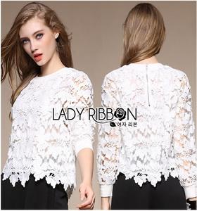 Lady Ribbon Lace Jumper จัมเปอร์ผ้าลูกไม้