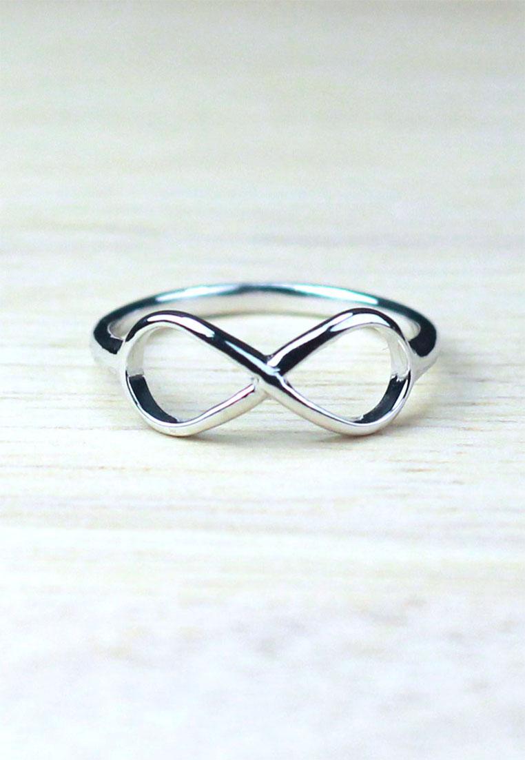 แหวนเงินแท้ เพชรสังเคราะห์ ชุบทองคำขาว รุ่น RG1301 Infinity