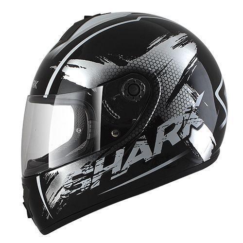 SHARK S600 PINLOCK EXIT Black Chrome White KUW/HE2460