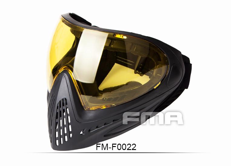 New.FMA กีฬากลางแจ้งปืนยุทธวิธีแว่นตาสกีล่าสัตว์ความปลอดภัยป้องกันหมอกแว่นตาป้องกันเต็มใบหน้าหน้ากากที่มีสีดำเลนส์FM มีเลนท์ สีเหลือง สีดำ สีประหลอด สีใส ราคาพิเศษ