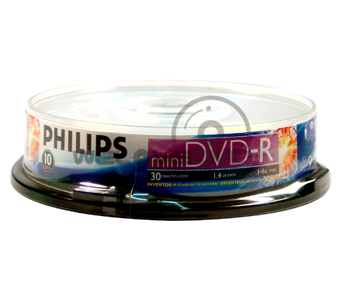Philips Mini DVD-R 4X (10 pcs/Cake Box)
