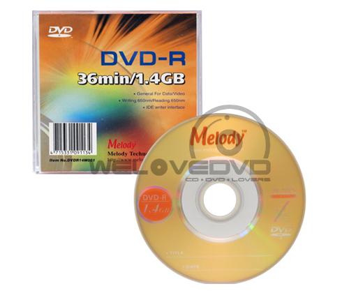 Melody Mini DVD-R 1.4 GB (10 pcs/Slim Case)