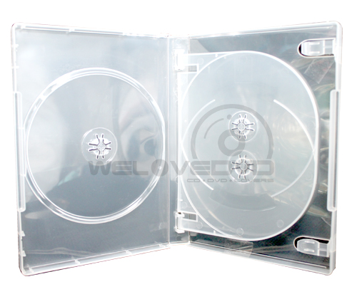 3 Disc DVD Case Clear 10 (Boxs)