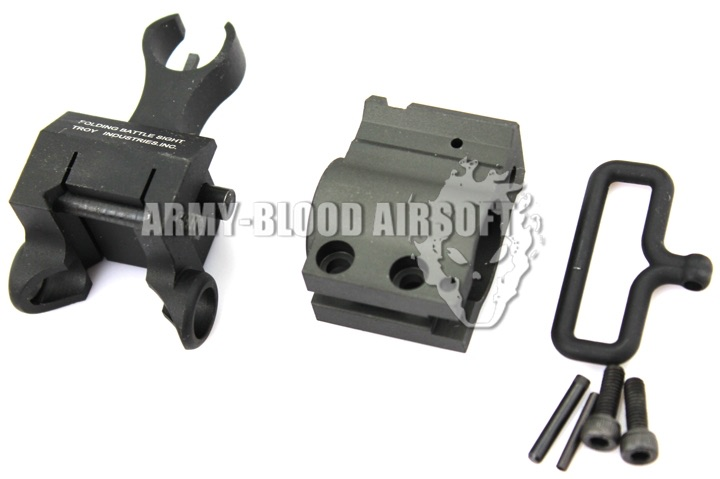 Troy Front Folding Battle Sight with Gas Block for M4 Seriesprev next