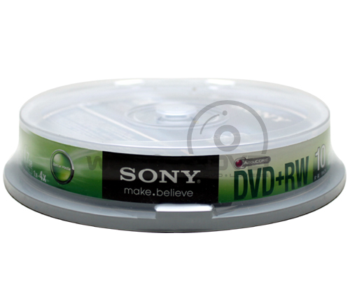 Sony DVD+RW 4X (10 pcs/Cake Box)