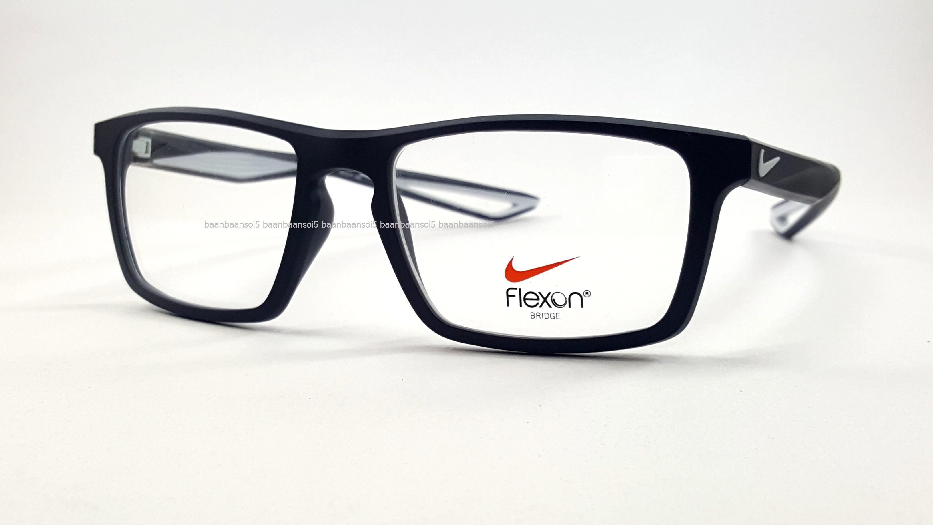 348930e79fd44 NIKE BRAND ORIGINALแท้ Flexon 4280 034 กรอบแว่นตาพร้อมเลนส์ มัลติโค๊ตHOYA  ป้องกัน
