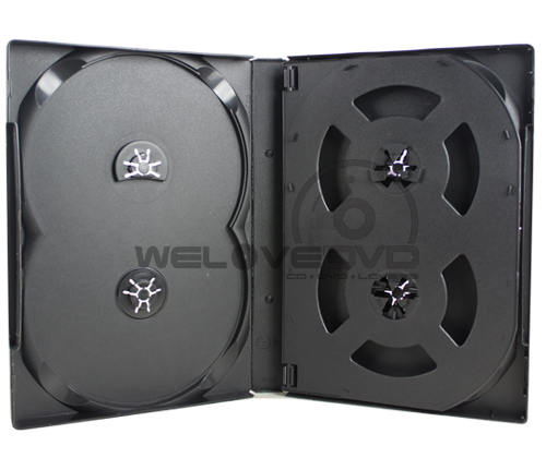 6 Discs DVD Case Black with 1 Tray (10 Boxs)