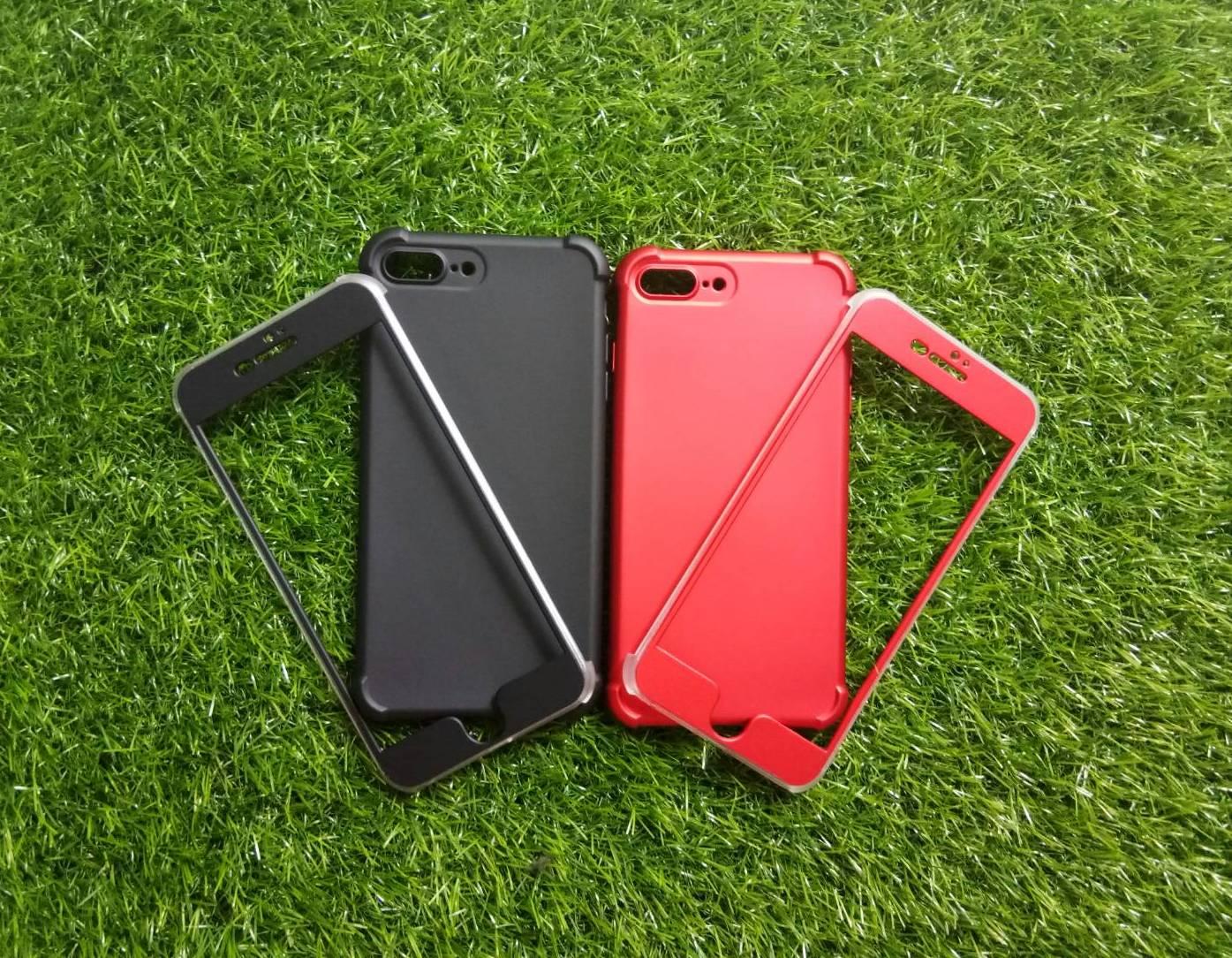 TPU ประกบหน้าหลังกันกระแทก iphone7 plus/iphone8 plus(ใช้เคสตัวเดียวกัน)