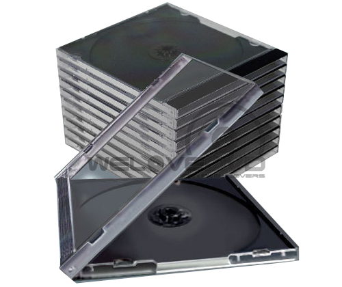 1 CD Standard Jewel Case Black (25 pcs)
