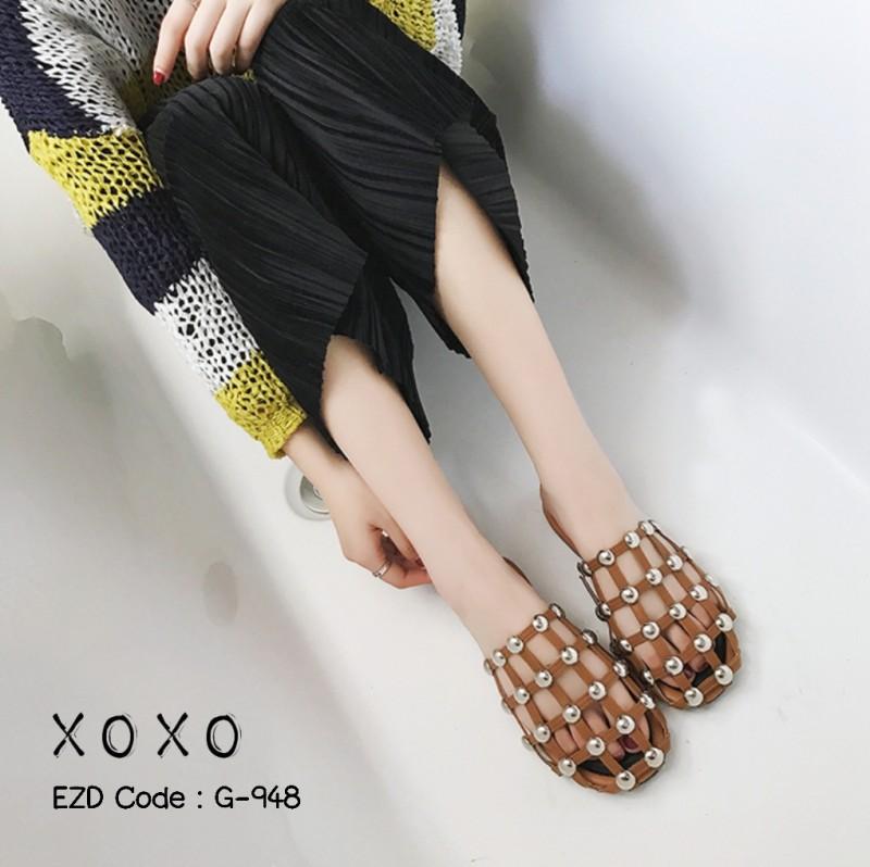 รองเท้าแตะผู้หญิง ALEXANDER WANG AMELIA FLAT (สีน้ำตาล )