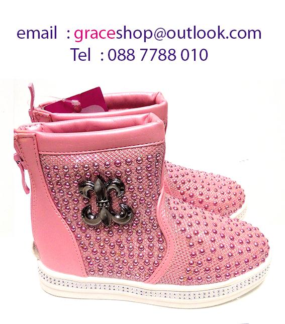 รองเท้าบู๊ทเด็ก สีชมพู