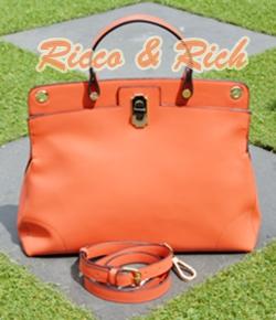 กระเป๋าหนังแท้ Fresco - OldRose