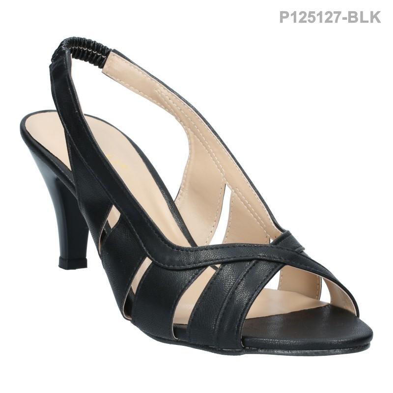 ลดล้างสต๊อก รองเท้าส้นเตี้ย P125127-BLK [สีดำ]