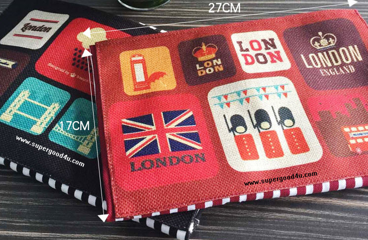 ผ้ากันเปื้อนผู้ใหญ่สไตล์เกาหลีญี่ปุ่น ลายทางขาวแดง กระเป๋าหน้า