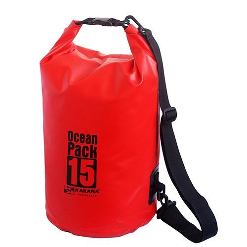 กระเป๋ากันน้ำ Ocean Pack 15L-สีแดง