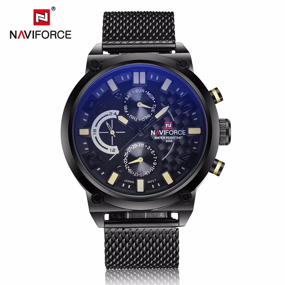 นาฬิกา Naviforce รุ่น NF9068M สีครีม/ดำ ของแท้ รับประกันศูนย์ 1 ปี ส่งพร้อมกล่อง และใบรับประกันศูนย์ ราคาถูกที่สุด