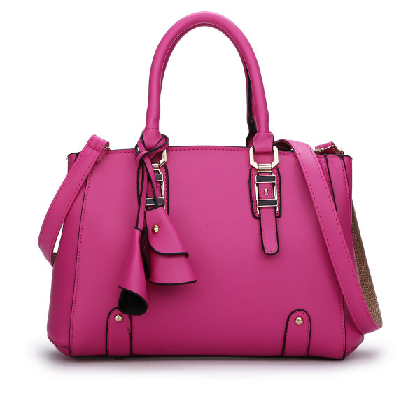 พร้อมส่ง กระเป๋าถือและสะพายข้าง กระเป๋าหรูคุณนายแฟชั่นเกาหลี Sunny-682 แท้ สีบานเย็น