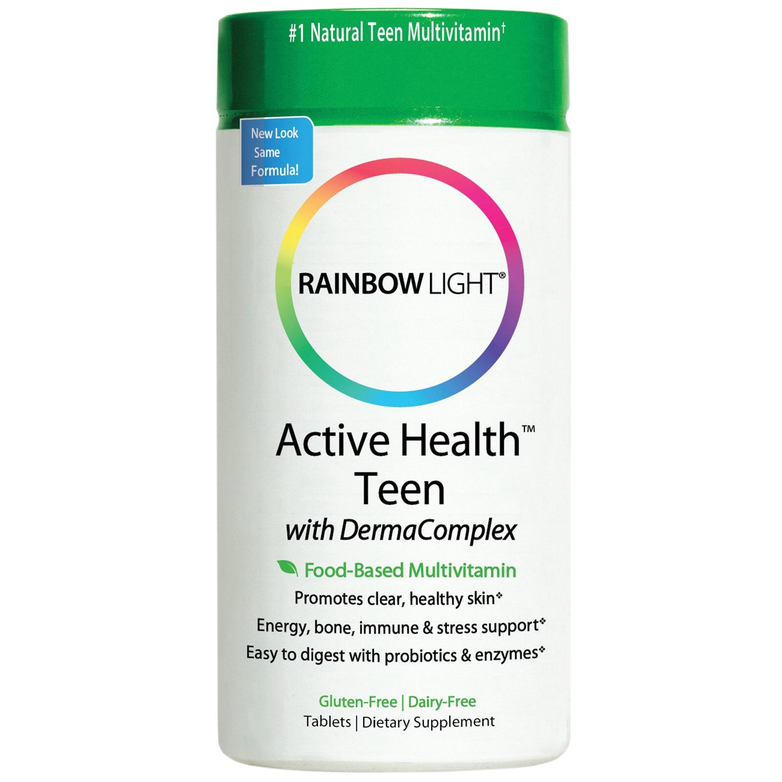 วิตามินรวมรักษาสิว Teen Health ,Rainbow Light Food-based Multi Vitamins