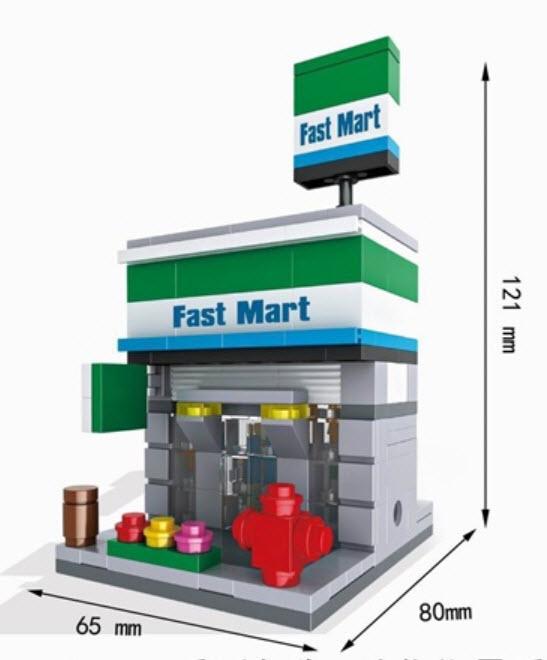 มินิโมเดล ร้าน Fresh Mart