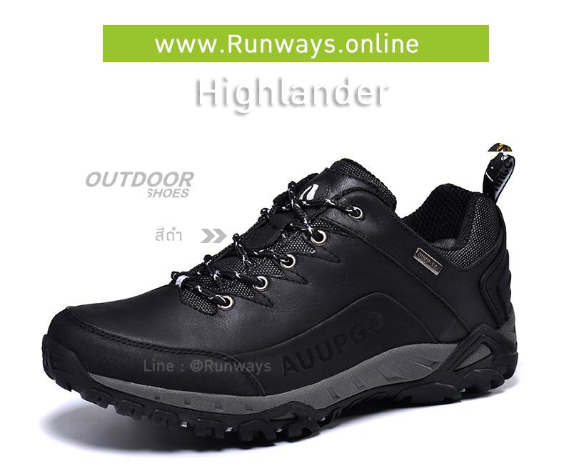 รองเทากันน้ำรุ่น Highlander : สีดำ