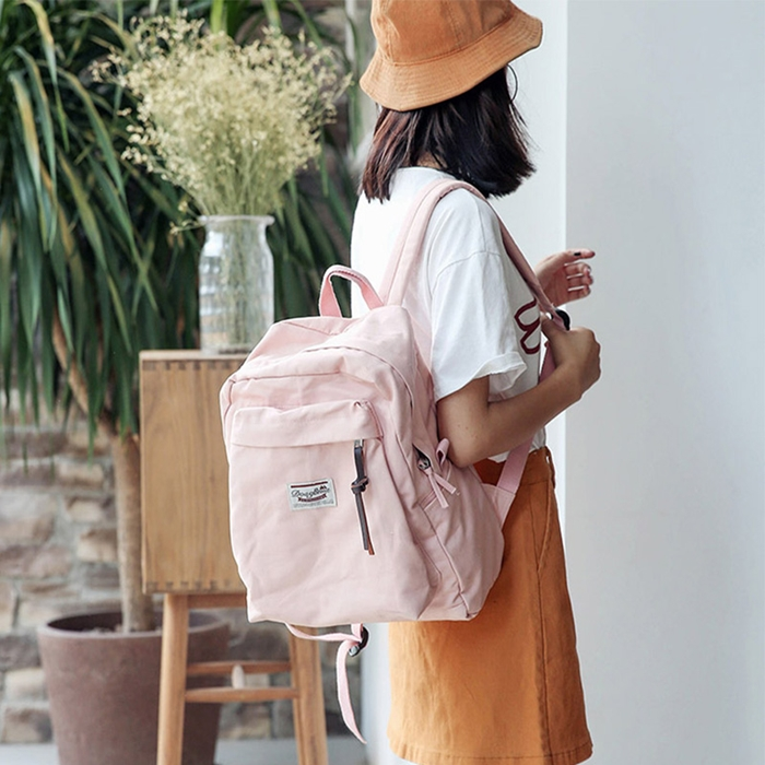 กระเป๋าเป้ผ้า Canvas (มีให้เลือก 6 สี )