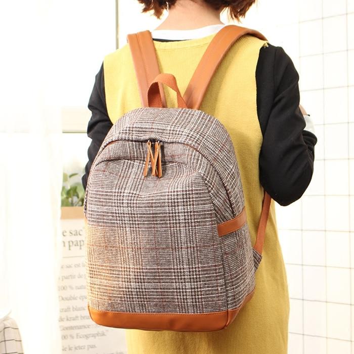 กระเป๋าเป้สะพายหลัง สไตล์ Retro (มีให้เลือก 3 สี)