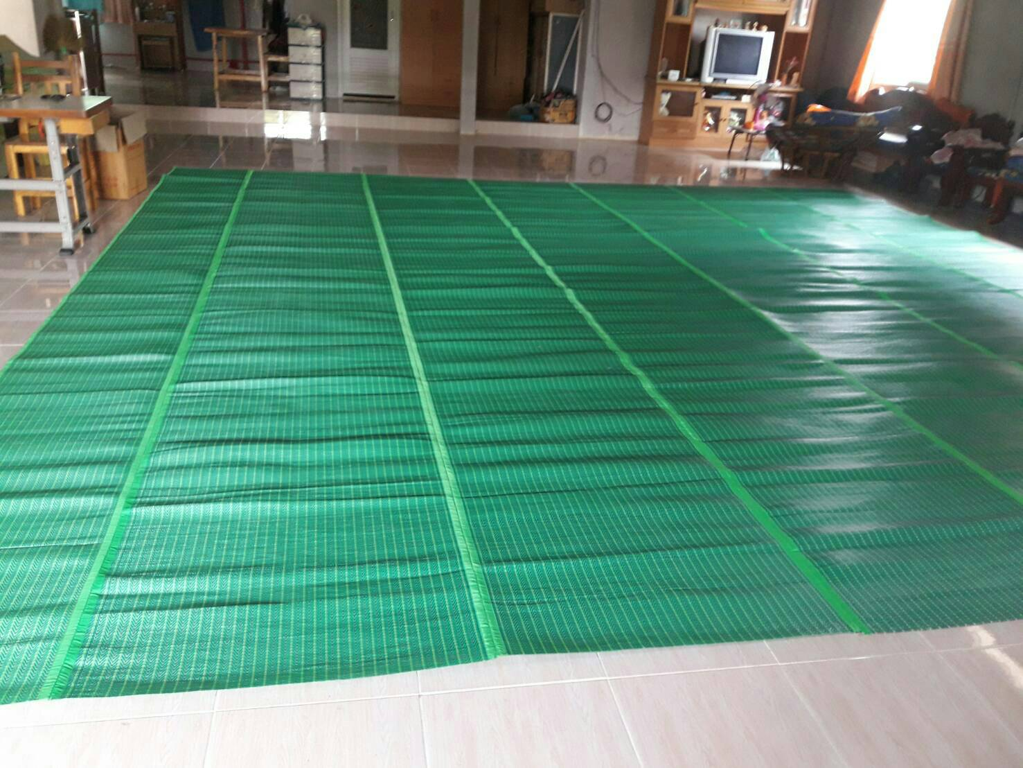 เสื่อพลาสติกขนาดพิเศษ 6 เมตร x 6 เมตร