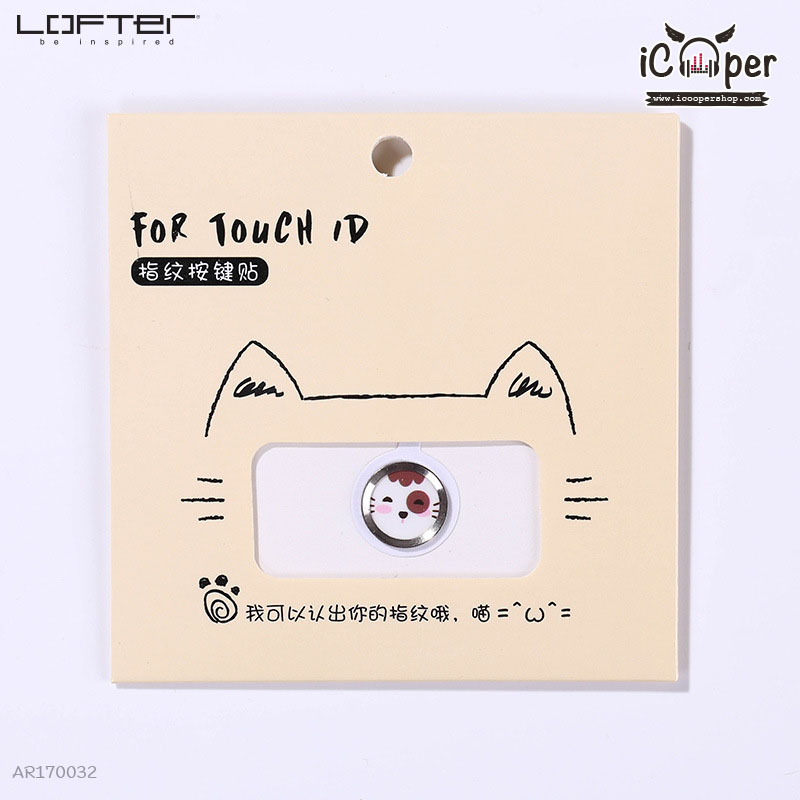 LOFTER Cartoon For Touch ID - White Cat