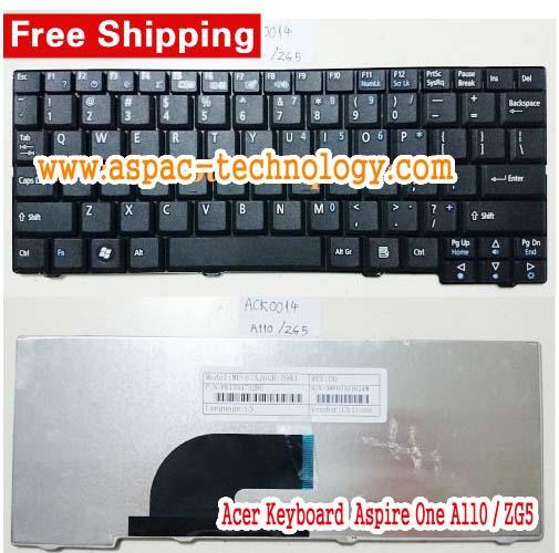 Keyboard ACER Aspire One A110 / ZG5 Black