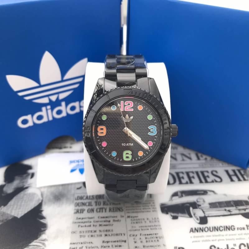 ราคา ฿2590🔸🔸+📮📮ems50฿ #Adidas Unisex ADH2943 Brisbane Analog Display Analog Quartz Black Watch