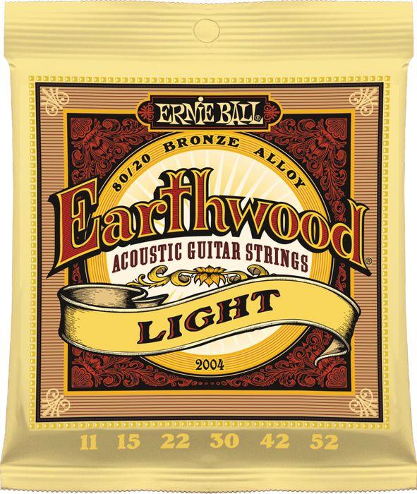 สายกีตาร์โปร่ง Ernie Ball Earthwood Light 011-052