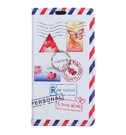 เคส lenovo k4 note (vibe x3 lite) เคสหนัง genuine แถบแม่เหล็ก ลายซองไปรษณีย์