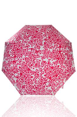 ESPRIT ร่มขนาดพกพา (ชัก 3 ท่อน) ด้ามเหลี่ยม UV protection ลายหัวใจ