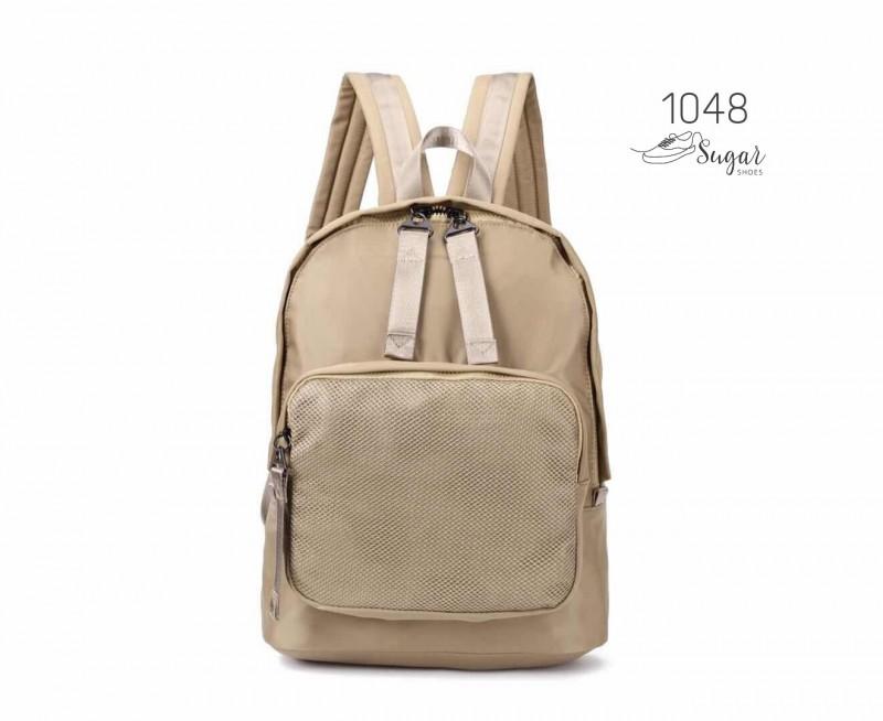 พร้อมส่ง กระเป๋าเป้ผ้าไนล่อนสไตล์ญี่ปุ่น - 1048 [สีแทน]