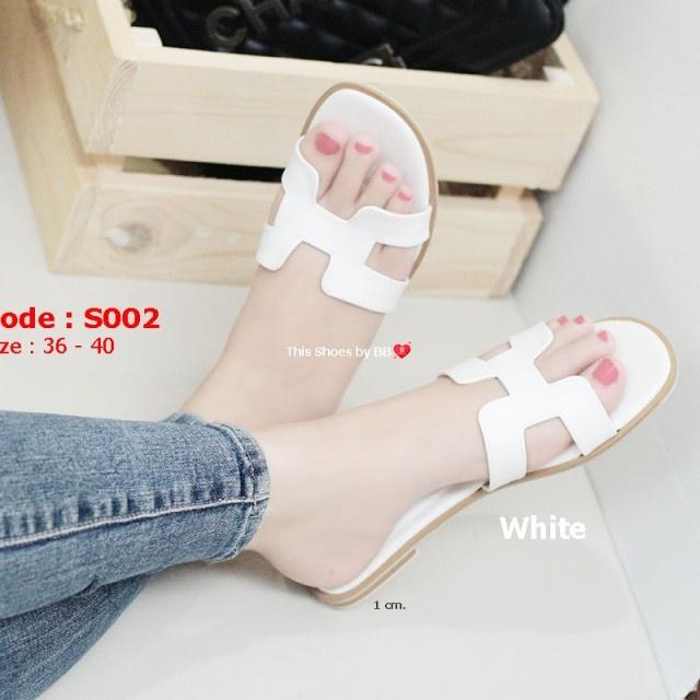 รองเท้าแตะเปิดส้น Hermes Sandals [สีขาว ]