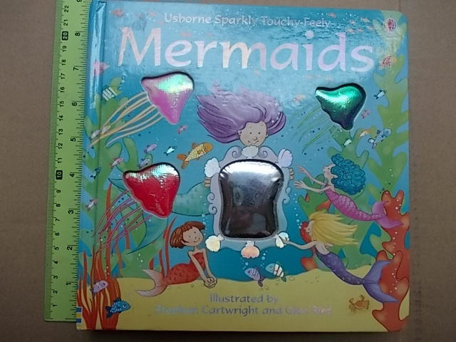 MERMAID (Usborne Sparkly Touchy-Feely) Illustrated by Stephen Cartwright & Glen Bird Board Book 12 Pages ราคา 200