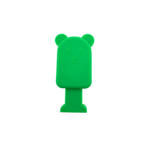 ที่กันสายขาด รูปหมี สีเขียว