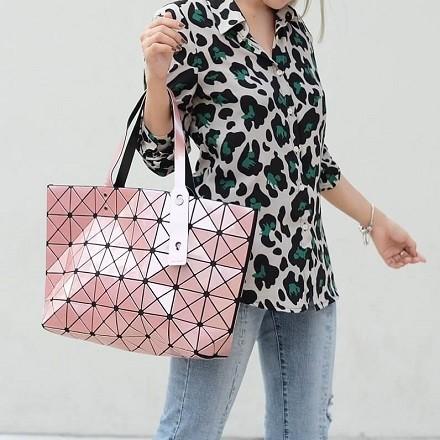 กระเป๋าสะพายแฟชั่น กระเป๋าสะพายข้างผู้หญิง Bao Bao 7*8 NoLogo [สีชมพู]
