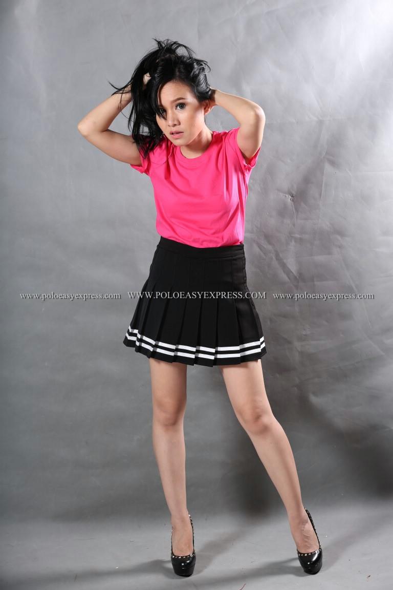 S เสื้อยืด สีชมพู Pinky คอกลม แขนสั้น Size S