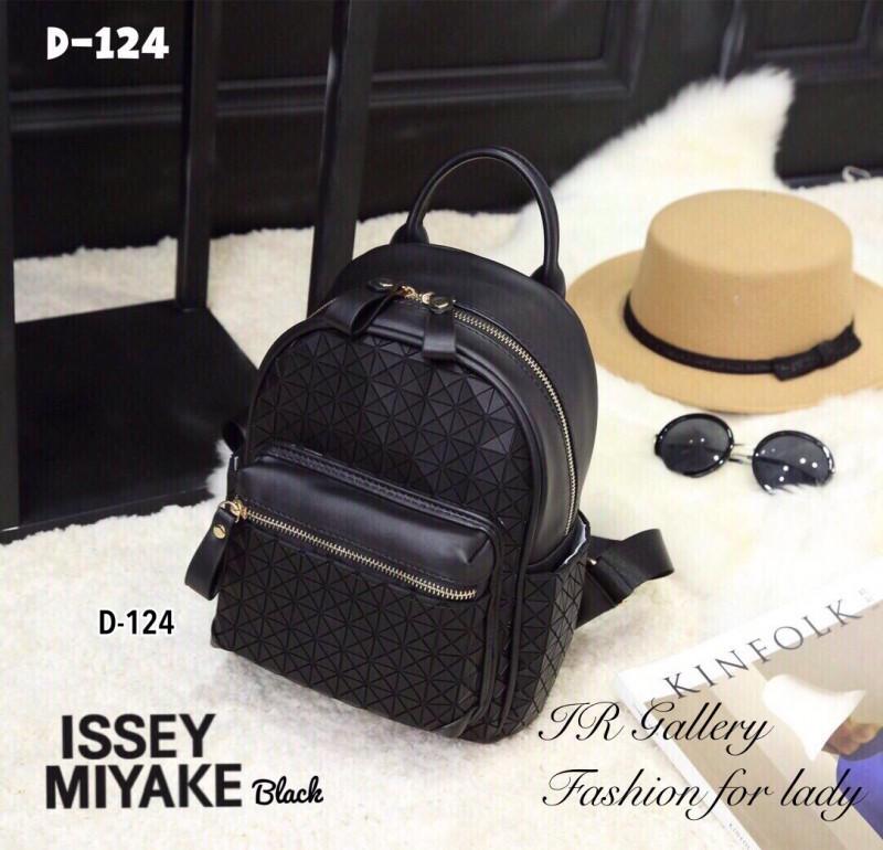 กระเป๋าเป้ผู้หญิง กระเปาสะพายหลังแฟชั่น ดีไซน์เป็นเอกลักษณ์ Issey Miyake Bao Bao [สีดำ ]