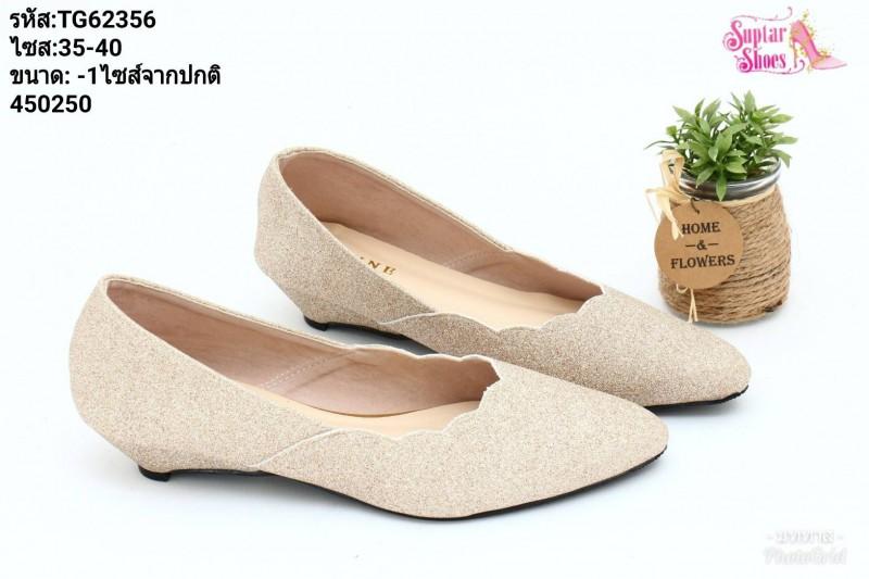 พร้อมส่ง รองเท้าคัชชูสวยๆ TG62356-PKG [สีนาค]
