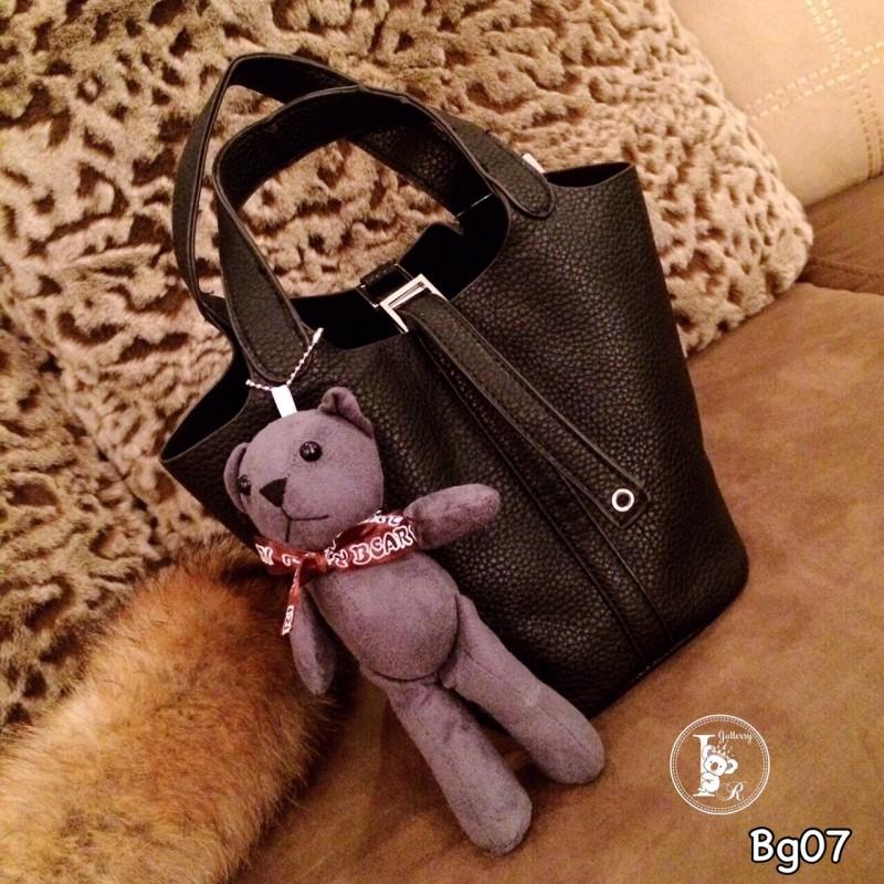กระเป๋าสะพายแฟชั่น กระเปาสะพายข้างผู้หญิง หนังนิ่มงานพรีเมี่ยม Style Hermes งานTop Mirror [สีดำ ]