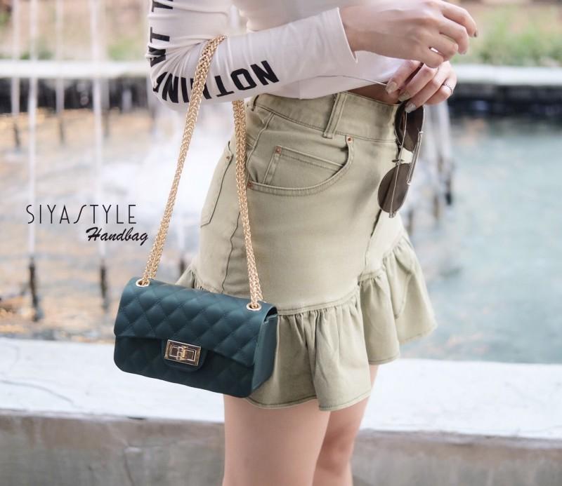 กระเป๋าสะพายแฟชั่น กระเป๋าสะพายข้างผู้หญิง New Mini Toy [สีเขียว]