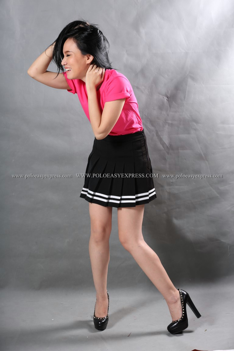 L เสื้อยืด สีชมพู Pinky คอกลม แขนสั้น Size L