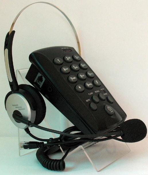 โทรศัพท์พร้อมชุดหูฟัง Call Center รุ่น T-800