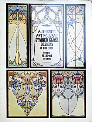authentic art nouveau stained glass designs