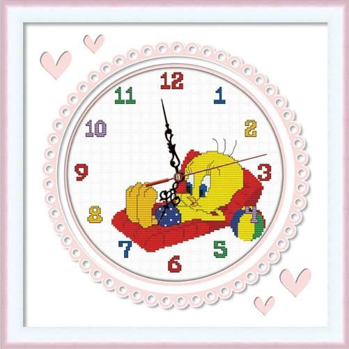 นาฬิกาการ์ตูนครอสติสพิมพ์ลาย