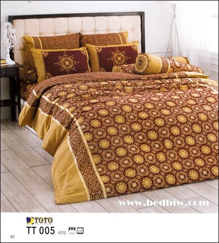 ชุดเครื่องนอน ผ้าปูที่นอน ลายคลาสสิค TT005 แดง