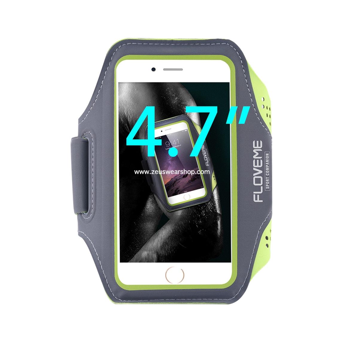 สายรัดแขนวิ่ง สีเขียว Armband ใส่โทรศัพท์หน้าจอ 4.7 นิ้ว